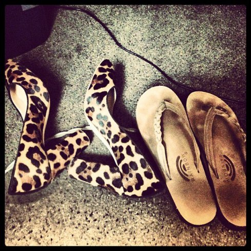 shoesunderdesk